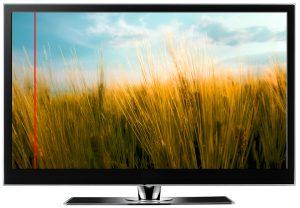 полоса на экране телевизора что делать
